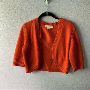 Orange Cashmere Michael Kors Bolero Cardigan